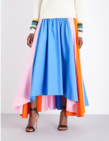 Peter Pilotto Contrast-panel cotton midi skirt