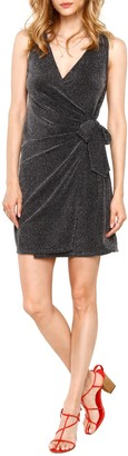 Heartloom Rory Sleeveless Shimmer Wrap Minidress