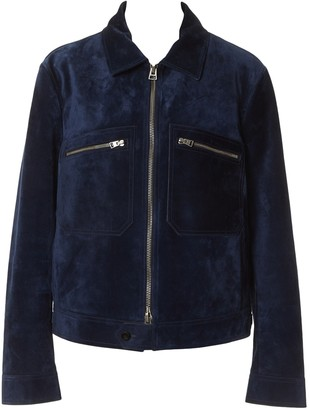 Tom Ford Navy Suede Jackets