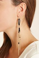 Forever 21 FOREVER 21+ Chain Fringe Duster Earrings