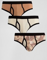 Asos Briefs With Camo Print 3 Pack