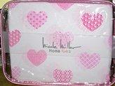 Nicole Miller 4-pc FULL SIZE COTTON PINK HEARTS sheet set (100% cotton)