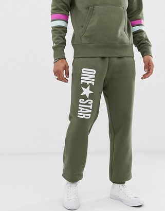 Converse One Star Sweatpants In Green