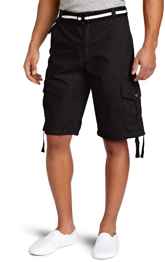 Southpole Men's Big-Tall Big & Tall Belted Ripstop Basic Cargo Short with Washing & 13.5 Inch Length All Season