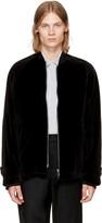 Ann Demeulemeester Black Velvet Bomber Jacket