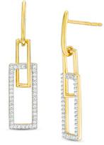 Zales 1/4 CT. T.W. Diamond Double Square Drop Earrings in 10K Gold