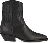 Sandro Jim stitch detail leather ankle boots