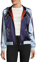 Opening Ceremony Love Stings Embellished Satin Track Jacket