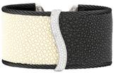 Alor Noir 18K Gold Stainless Steel Cuff Bracelet