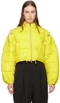 3.1 Phillip Lim Yellow Cropped Puffer Ski Coat