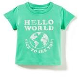 Infant Peek Hello World T-Shirt