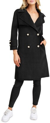 Belle & Bloom Endless Attention Black Wool Coat