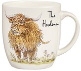 Queens Country Pursuits Olive Mug the Herdsman 300ML OP Stk 6, Ceramic, Multi-Colour, 8.8 x 8.8 x 9 cm
