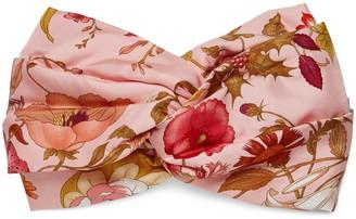 Gucci Silk headband with Flora print