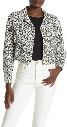 Sugar Lips Wildest Dreams Leopard Print Cropped Jacket