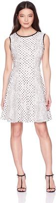 Gabby Skye Women's Petite Multi Polka Dot Dress