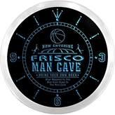 AdvPro Clock ncqc2269-b FRISCO Basketball Mave Cave Den Beer Bar LED Neon Sign Wall Clock