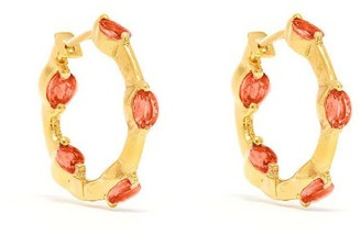 Jaipur Atelier | Los Angeles Sarah Orange Sapphire Hoop Earrings