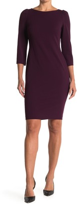 Calvin Klein 3/4 Length Sleeve Sheath Dress