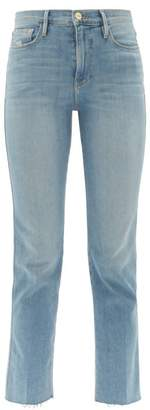 Frame Le Sylvie High-rise Jeans - Womens - Blue