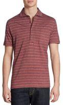 Luciano Barbera Striped Cotton Polo