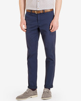 Ted Baker Tailored Fit Cotton Chinos Dark Blue