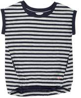 Nautica Little Girls' Striped High-Low Terry Top (2T-7)