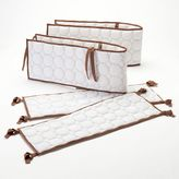 Bacati Quilted White & Chocolate Circles Crib Bumper