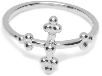 Agnes de Verneuil Cross Ring - Silver