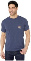 Southern Tide Nautical Blue Space T-Shirt (Heather True Navy) Men's Clothing