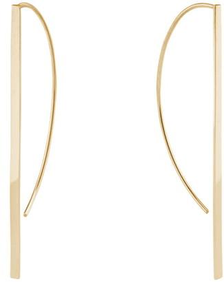 Lana Short P-Hoop Earrings