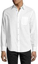 Rag & Bone Beach Button-Front Shirt, White