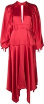 Self-Portrait Bishop Sleeve Midi Dress