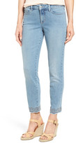 NYDJ Clarissa Embroidered Hem Stretch Ankle Skinny Jean