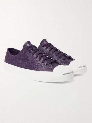 Converse Pop Trading Company Jack Purcell Embossed Leather Sneakers - Men - Purple