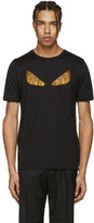 Fendi Black Crystal 'Bag Bug' T-Shirt