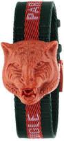 Gucci Secret Feline Web-Strap Watch