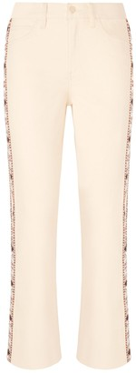 Tory Burch Sandy Super-Cropped Boot Jean