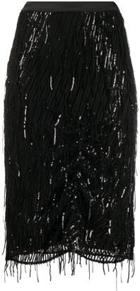 Dorothee Schumacher Sequinned Pencil Midi Skirt