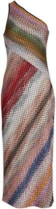 Missoni Knit Chevron One-Shoulder Dress