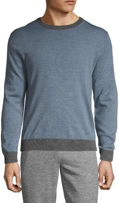 Saks Fifth Avenue Colorblock Wool Blend Sweater