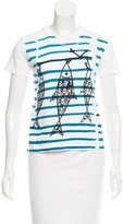 Prada Graphic Print Scoop Neck T-Shirt