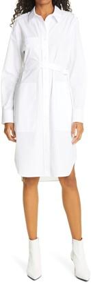Helmut Lang Long Sleeve Cotton Shirtdress