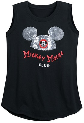 Disney Mouseketeer Flip Sequin Tank Top for Women The Mickey Mouse Club