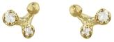 N+A New York Diamond Triangle Stud Earrings