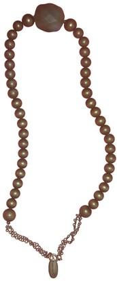 Isabel Marant Khaki Pearl Necklaces