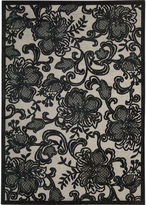 Nourison Floral Lace Rectangular Rug
