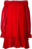 Alexander McQueen off-the-shoulder smock dress - women - Silk/Cotton - 38