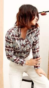 Lulu Tinsels - Ecru Viscose Indian Shirt - viscose | ecru | 2 - Ecru