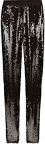 Alexander McQueen Sequined silk-blend georgette leggings